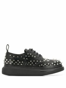 Alexander McQueen spike lace-up sneakers - Black