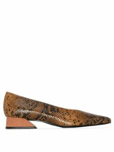 Yuul Yie Selma 30mm snake-effect pumps - Aptricot Camel Python