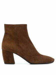 Prada ankle zip boots - Brown