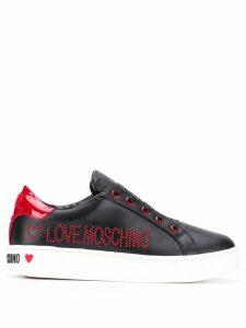 Love Moschino stud logo sneakers - Black