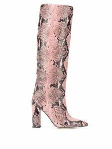 Paris Texas snakeskin effect boots - Pink