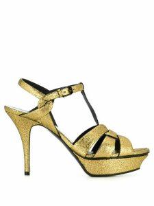 Saint Laurent metallic leather Tribute sandals - Gold