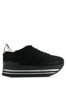 Hogan glittered flatform sneakers - Black