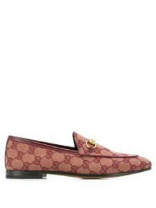 Gucci Jordaan GG canvas loafers - Red