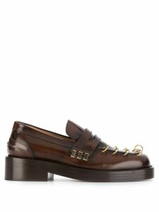 Marni ring-detail loafers - Brown