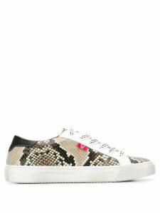 Veronica Beard snake-effect sneakers - White