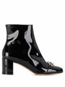Salvatore Ferragamo Gancio varnished boots - Black