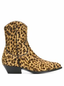 Philosophy Di Lorenzo Serafini leopard ankle boots - Brown