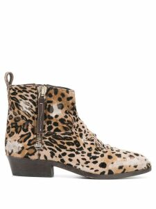 Golden Goose Viand leopard print boots - Neutrals