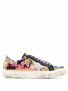 Golden Goose May sequined sneakers - Blue