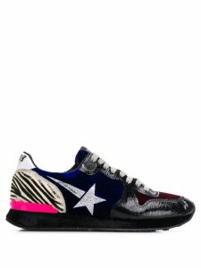 Golden Goose Running panelled sneakers - Blue