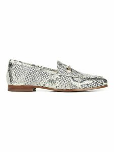 Loraine Snake-Print Leather Loafers