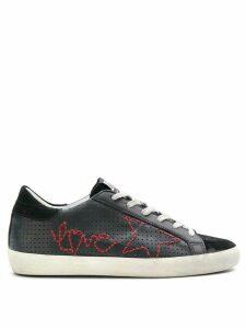 Golden Goose Superstar love sneakers - Black