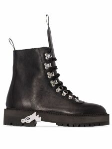 Off-White lace-up hiking boots - Black