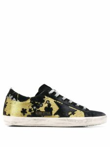 Golden Goose Blossom Jacquard Superstar sneakers - Black