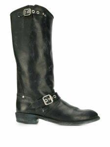 Golden Goose buckle detail boots - Black