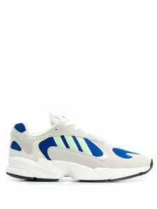Adidas stitching detail sneakers - White