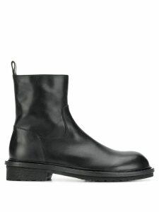 Ann Demeulemeester biker boots - Black