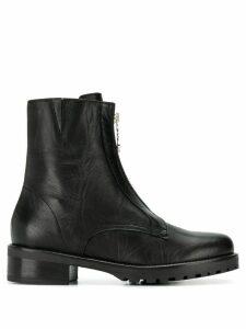 Patrizia Pepe zip-up boots - Black