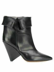 Isabel Marant luliana folded-ankle boots - Black