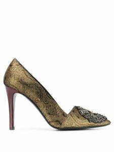 Etro jacquard effect pumps - GOLD