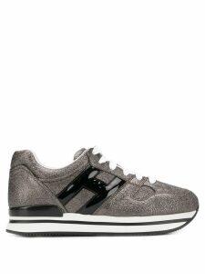 Hogan H222 metallic platform sneakers - Black