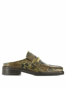 Martine Rose square-toe mule loafers - Green