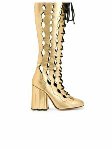 Marni lace-up knee-length boots - Gold