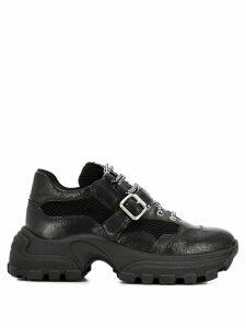 Miu Miu buckle strap chunky sneakers - Black