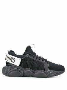Moschino logo knit sneakers - 00A Black