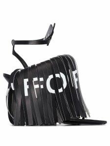 Off-White fringed 110mm sandals - Black