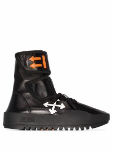 Off-White Moto high-top wrap sneakers - Black