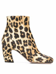 Miu Miu leopard print ankle boots - Neutrals
