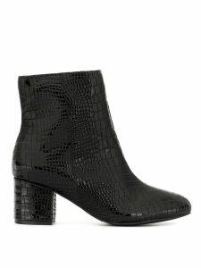 Schutz patent block heel boots - Black