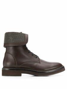 Brunello Cucinelli foldover ankle boots - Brown