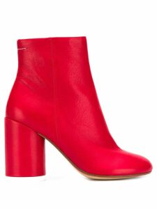 Mm6 Maison Margiela block-heel ankle boots - Red