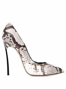 Casadei snakeskin effect pumps - Grey
