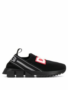 Dolce & Gabbana logo slip-on sneakers - Black