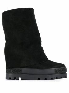 Casadei wide ankle boots - Black