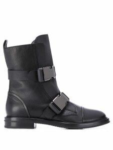 Casadei buckle strap boots - Black