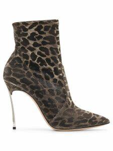 Casadei leopard print boots - Gold