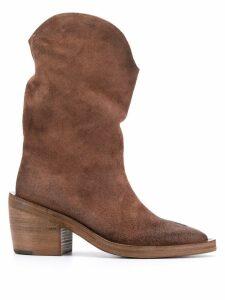 Marsèll slouchy cowboy boots - Brown