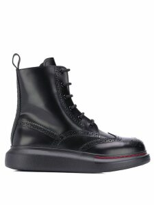 Alexander McQueen lace-up ankle boots - Black