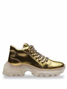 Miu Miu suede sneakers - GOLD