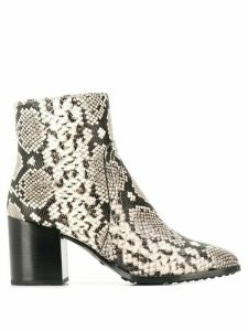 Tod's snakeskin print ankle boots - Neutrals