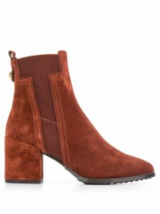 Tod's block heel ankle boots - Brown