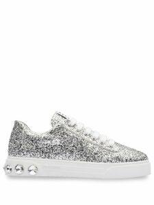 Miu Miu glitter sneakers - Silver