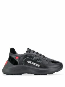 Love Moschino sequin embellished sneakers - Black
