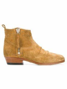 Golden Goose Shearling boots - NEUTRALS
