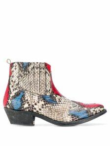 Golden Goose snake print boots - Neutrals